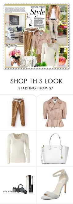 """Share your style - polka dots pants"" by blondiejenny ❤ liked on Polyvore featuring Alexander McQueen, Michael Kors, Elorie, Spring, PolkaDots, AlexanderMcQueen, michaelkors and pants"