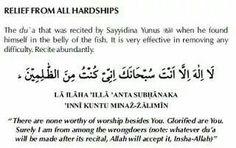 Prophet Yunus dua for relief from hardship