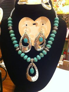 A turquoise jewelry set by Brighton.