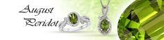 This month's birthstone is Peridot. The Peridot is a very old gem, having been found in Egyptian jewelry from the early second millennium B.C, almost four thousand years ago. Peridots are formed deep inside the earth and brought to the surface by volcanoes. The stone is said to host magical powers and healing properties. The Peridot is also stated to bring the wearer power, influence, and a wonderful year.