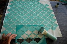 I WANT THIS! NOW! SO BAD! Stenciled Pillows {tutorial} — New Martha Stewart Decorative Paint Line!!