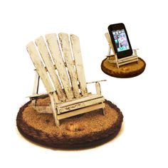 iBeach in Rustic White - iPhone dock