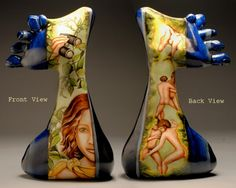my feet....china paint on porcelain