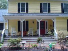 red door yellow house