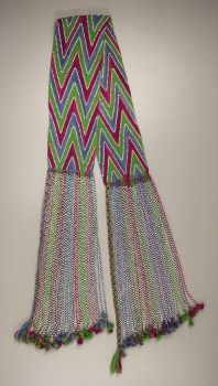 OSAGE YARN AND BEAD SASH. c. 1910...