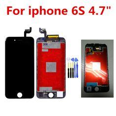 """6 S için 4.7 inç Lcd ekran 3D dokunmatik LCD Ekran Ekran Için iPhone 6 S 4.7 """"AAA kalite ile Dokunmatik Ekran Digitizer Meclisi"""