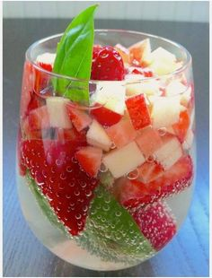 Apple strawberry infused water