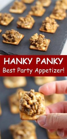 Need a EASY and DELICIOUS Crowd-pleasing Appetizer for your Super bowl party? These cheesy, meaty, - Need a EASY and DELICIOUS Crowd-pleasing Appetizer for your Super bowl party? These cheesy, meaty, - Best Party Appetizers, Appetizers For A Crowd, Food For A Crowd, Appetizer Recipes, Crackers Appetizers, Party Recipes, Party Snacks, Easy Thanksgiving Appetizers, Freezable Appetizers