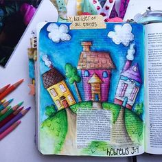 Bible Journaling by Illustrated Faith Scripture Study, Bible Art, Journal Inspiration, Creative Inspiration, Illustrated Faith, Hebrews 3, Hand Lettering, Photo And Video, Illustration