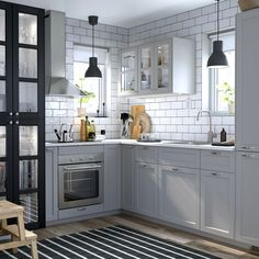 Small kitchen ideas kitchens inspiration a grey and white ikea design island s . small kitchen ideas best on for spaces Small Kitchen Tables, Rustic Kitchen, New Kitchen, Kitchen Decor, Kitchen Ideas, Hickory Kitchen, Kitchen Interior, Ikea Kitchen Design, Kitchen Colors