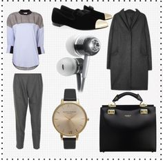 Women, work the androgynous look with groomed tailoring and luxurious accessories.