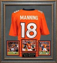 Peyton Manning Autographed Jersey Framed