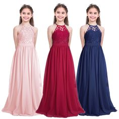 Vestido Largo de Princesa Encaje Floreado Boda Fiesta Bautizo para Niña Infantil | Ropa, calzado y complementos, Ropa niños, calzado y complem., Ropa de niña (2-16 años) | eBay! Wedding Dresses For Kids, Wedding Dresses With Flowers, Dresses Kids Girl, Flower Girl Dresses, Wedding Gowns, Gala Dresses, Pageant Dresses, Formal Dresses, Princess Dress Kids