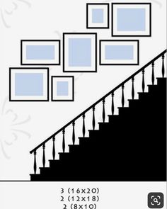 Incredible Wall Gallery Ideas For Perfect Wall Decor: 75 Best Ideas Stairway Decorating Decor Gallery Ideas Incredible Perfect Wall Stairway Pictures, Stairway Gallery Wall, Gallery Wall Layout, Gallery Walls, Hang Pictures, Stairway Art, Art Gallery, Staircase Wall Decor, Stairway Decorating