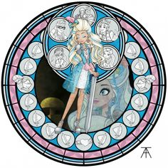 Part 19 of an Ever After High series, inspired by Akili-Amethyst's series of stained glass windows, based on the Awakening Stations of Kingdom Hearts. Hero of Her Own Story: Darling Charming Ever After High, Scooby Doo Mystery Incorporated, Ever After Dolls, Film D'animation, New Backgrounds, High Art, Monster High Dolls, Cosplay, Adventure Time