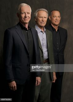 Director Clint Eastwood, actor Tom Hanks and Chesley 'Sully'. Tom Hanks, Clint And Scott Eastwood, Actor Clint Eastwood, Usa Today, Tv Actors, Actors & Actresses, America Dad, San Francisco, Toy Story Movie