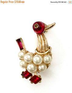 Trifari Alfred Philippe Duck Brooch Dancing Duck by Vintageimagine