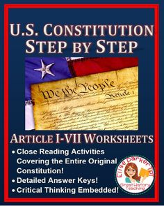 @greathistory posted to Instagram: Tap the link in my bio for more info:   @greathistoryteaching U.S. Constitution Step by Step Worksheets CAN BE DONE COMPLETELY ONLINE AS A TPT DIGITAL ACTIVITY -- perfect for distance learning! These worksheets help students master the entire original Constitution via close reading and critical thinking! Integrates historical analysis skills -- asks students not just WHAT the rules for government are but also WHY they're set up that way, including how…