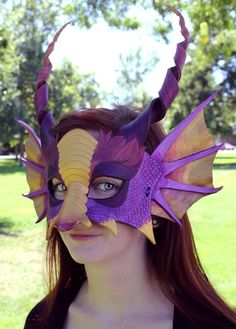 Tutorial How to Craft Leather Masks #Halloween #leather #mask www.loveitsomuch.com