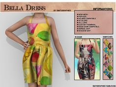Custom contents for The Sims 4 Sims 4 Cc Kids Clothing, Sims 4 Mods Clothes, Sims Mods, Bella Dresses, Sims 4 Dresses, Sims 4 Download Free, Sims 4 Children, Sims 4 Game, The Sims4