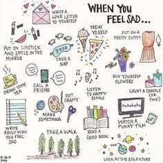 coping skills for when I'm feeling sad Bullet Journal Ideas Pages, Bullet Journal Inspiration, Feeling Sad, How Are You Feeling, Vie Motivation, Vie Positive, Positive Vibes, Happy Lights, Self Care Activities