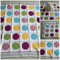Crochet Colorful Dots Baby Blanket (50.00 USD) by WarmingHeartsB1G1