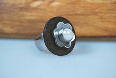 Ring - Wechselring - Holz Blume Perle von DaiSign auf DaWanda.com