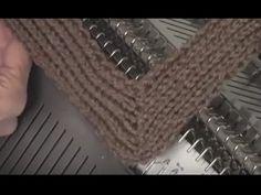 Knit Mitered Ribbing by Diana Sullivan - YouTube