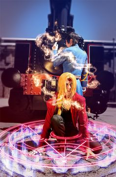 Full Metal Alchemist cosplay added effects