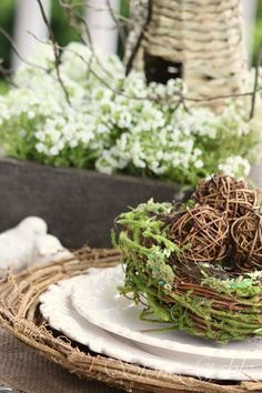 SPRING NESTING TABLESCAPE AND GWAHM Giveaway Winner - StoneGable