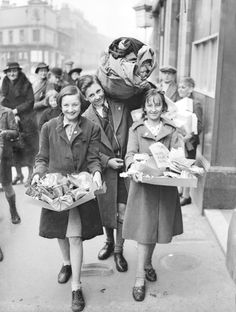 29th April, 1941, London: Finsbury children are helping in the war by collecting salvage, the ones who collect the most will be presented with a special badge issued by the council.' (Photo by Planet News Archive/SSPL/Getty Images)