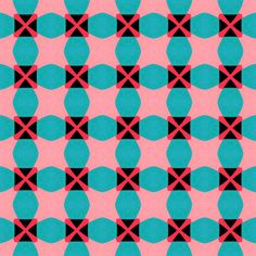retro pink & blue fabric - stoflab