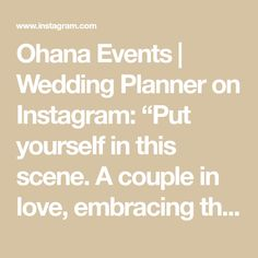 """Ohana Events   Wedding Planner on Instagram: """"Put yourself in this scene. A couple in love, embracing the moment before they're joined with their guests for a micro wedding in a…"""" My Wedding Planner, Couples In Love, Ohana, Dawn, Chicago, Scene, Events, In This Moment, Instagram"""
