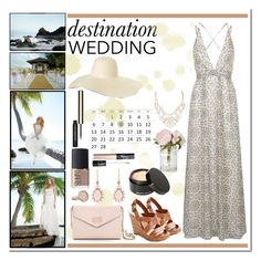 Beach Wedding by honey-beans-xo on Polyvore featuring Oh My Love, Jessica Simpson, Irene Neuwirth, Monica Vinader, Beauty Is Life, NARS Cosmetics, Clarins, WhatToWear, beachwedding and favorite2sets