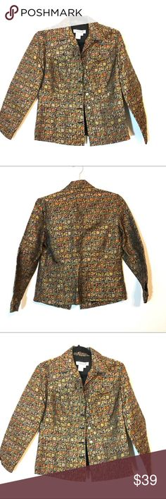 Coldwater creek Floral jacket Coldwater creek Floral jacket, super cool pattern, good condition. Coldwater Creek Jackets & Coats