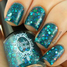 A jelly like teal nail polish! Melusina: Mysterium Magnum Collection by Powder Perfect