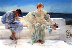 Ask Me No More by Sir Lawrence Alma-Tadema :: artmagick.com. This one hangs in my Living Room!