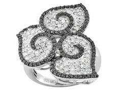 Pamela McCoy Diamonds(Tm) 1.75ctw Round White & Tuxblack Diamond Ring