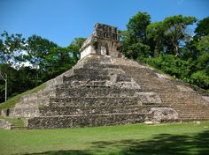 Palenque was a Maya city state in southern Mexico that flourished in the 7th century. The Palenque ruins date back to 226 BC to around 799 AD. Wikipedia