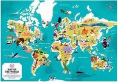 Satoshi Hashimoto's illustrated world map, via Monocle.