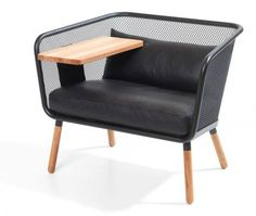 the honken workstation is a an armchair with attachable accessories, designed by thomas bernstrand, johan lindau + borselius for blastation. Small Furniture, Cheap Furniture, Office Furniture, Furniture Design, Wooden Furniture, Luxury Furniture, Design Apartment, Office Seating, Soft Seating