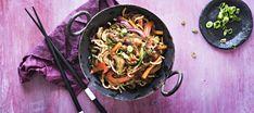 Hoisin-wok | Pääruoat | Reseptit – K-Ruoka Dinner Tonight, Wok, Japchae, Paella, Spaghetti, Good Food, Dishes, Healthy, Ethnic Recipes