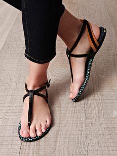 11f33657527 Burberry Prorsum Somers Flat Sandals in Black - Lyst