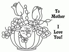 Coloring Pages Spring Flowers Beautiful Coloring Page Free Printable Mothers Day. printable tags for mother's day day printables day printables for preschoolers day printables free day free printable cards Cross Coloring Page, Spring Coloring Pages, Flower Coloring Pages, Kids Coloring, Pokemon Coloring Pages, Free Adult Coloring Pages, Free Printable Coloring Pages, Mother's Day Printables, Free Printable Cards