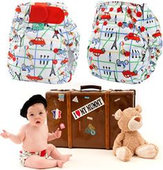 Ooh la la! cute Paris printed nappies at #babipur by #totsbots