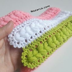 Crochet Crocodile Stitch, Basic Crochet Stitches, Crochet Bebe, Knit Crochet, Manta Crochet, Crochet Clothes, Fingerless Gloves, Arm Warmers, Applique