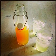 Shrub de gengibre. | 10 bebidas muito refrescantes para testar neste calor