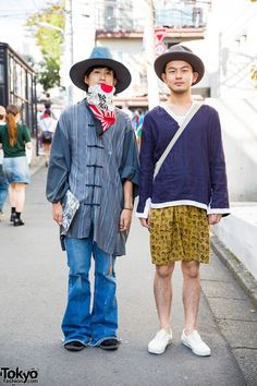 When we met Kazushiro and Atsuki on the street in Harajuku they were wearing fashion from Elephant TRIBAL Fabrics, Boy Tokyo, Feets, Vans, and Levi's.
