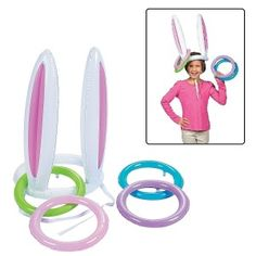Iusun Easter Decorations Inflatable Easter Bunny Rabbit Ears Hat & Ring Toss Easter Kids Game Toy Gift Festival Holiday Christmas Halloween Party Valentine's Day New Year Ornaments Craft Gifts (A) Easter Games For Kids, Easter Crafts For Toddlers, Fun Games For Kids, Easter Bunny Ears, Ring Toss, Ring Game, Kids Birthday Gifts, Ornament Crafts, Holidays With Kids