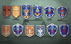 Evolution of Link's shield by Blue amnesiac